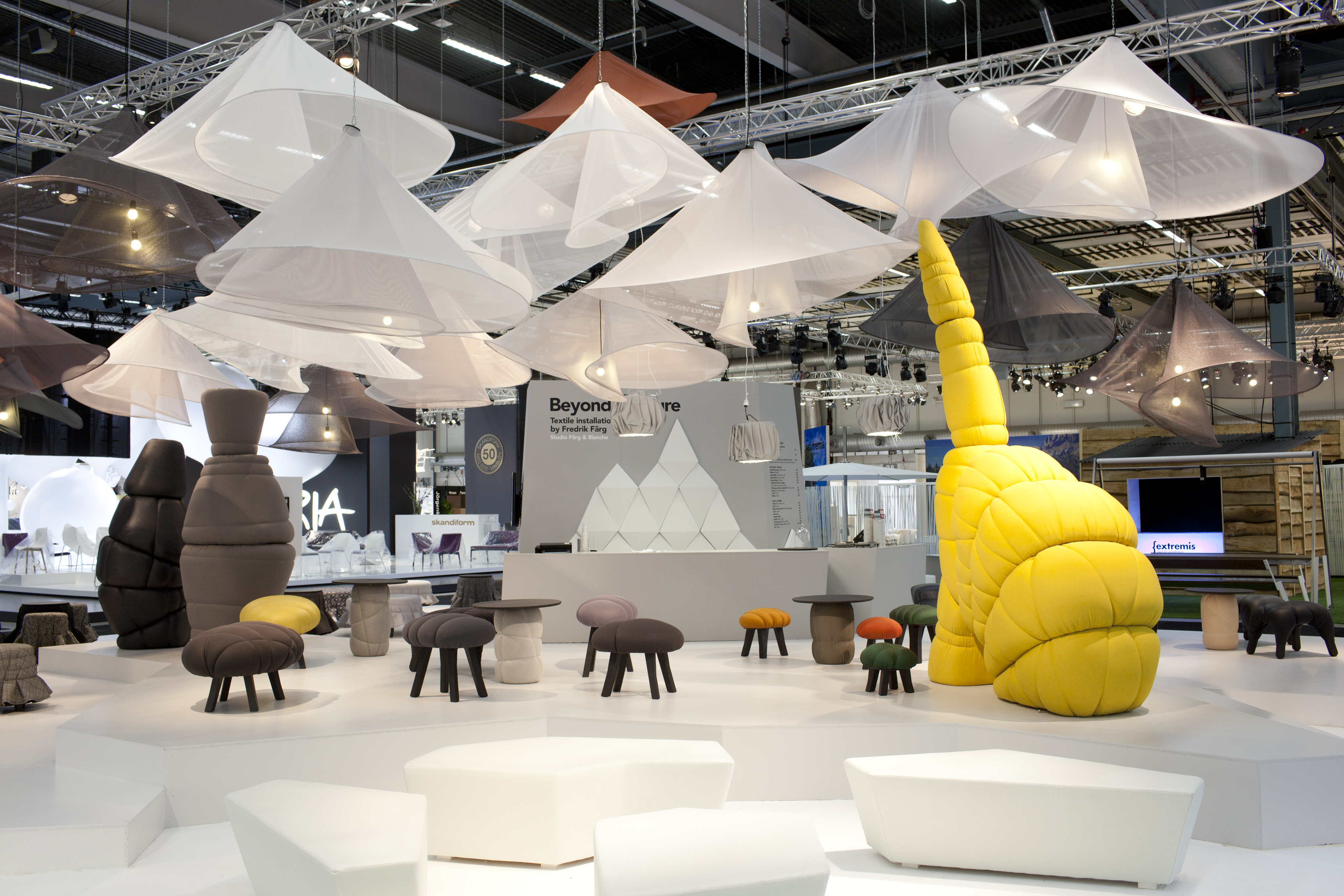 """Stockholm Furniture Fair : Stockholm furniture fair """"beyond couture fÄrg blanche"""